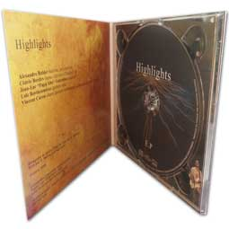 pochette carton digipack cd 4 pages