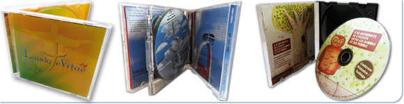 les packaging CD et DVD en boitiers cristal et jewel box